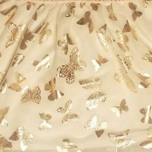 Children's Place Dresses - Girls' Sleeveless Pleated Gold Dress